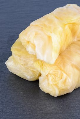 Pickled Cabbage Leaves in Rolls